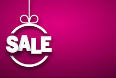 Sale paper christmas bauble. Royalty Free Stock Image