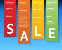 Sale paper cut template Royalty Free Stock Image