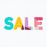 Sale Paper Cut Title Design. Sale Paper Cut Title Vector Design stock illustration