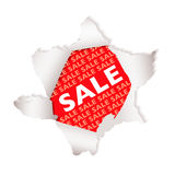 Sale paper explode Royalty Free Stock Photo