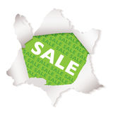Sale paper explode green Royalty Free Stock Image
