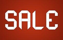 Sale. Paper folding design Stock Photos