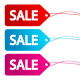 Sale paper labels Royalty Free Stock Photos