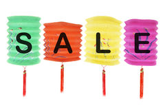 Sale Paper Lanterns Royalty Free Stock Image