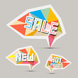 Sale Paper Retro Labels Set Royalty Free Stock Photo