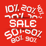 Sale Paper Title - Discount Vector Illustration Stock Image