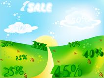 Sale Paradise Stock Photography