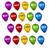 Sale party balloons. Illustration for the web Royalty Free Stock Photos