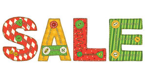 Sale in Patchwork Style Stock Photos