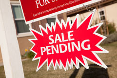 Sale Pending Real Estate Burst Sign Royalty Free Stock Photo