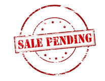 Sale pending. Rubber stamp with text sale pending inside,  illustration Royalty Free Stock Images