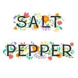 Sale/pepe Fotografia Stock Libera da Diritti