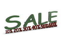 Sale with percent Royalty Free Stock Image