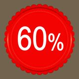 Sale 60 percent banner design. Over a grey background, illustration Royalty Free Stock Photo