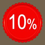 Sale 10 percent banner design Stock Photo