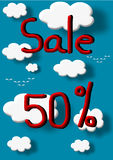 Sale 50 percent discount Stock Image
