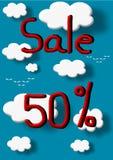 Sale 50 percent discount. Illustration Stock Image
