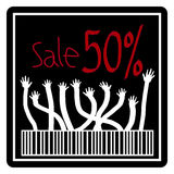 Sale 50%, 50 percent discount Royalty Free Stock Images