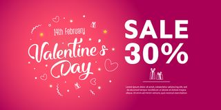 Sale 50 percent discount. Illustration of love and valentine day. Sale 30 percent discount Royalty Free Stock Photography