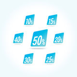 Sale Percent Labels Royalty Free Stock Photo
