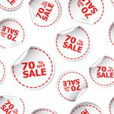 Sale 70% percent off sticker seamless pattern background icon. B Royalty Free Stock Photos