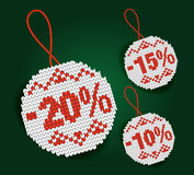 Sale percent price tags Royalty Free Stock Image