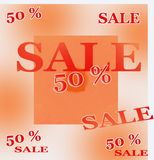 Sale 50 percent of autumn Royalty Free Stock Images