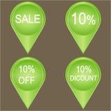 Sale 10 percent  set. Sale 10 percent banners set over a grey background, illustration Vector Illustration