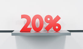 Sale at 20 percent Royalty Free Stock Photo
