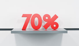 Sale at 70 percent Royalty Free Stock Photo