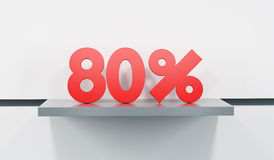 Sale at 80 percent Stock Image
