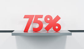Sale at 75 percent Royalty Free Stock Photos