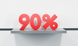Sale at 90 percent Stock Images
