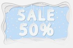 Sale 50 percent text Royalty Free Stock Photos