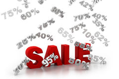 Sale and percentages Royalty Free Stock Photography