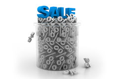 Sale and percentages Stock Images