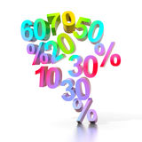 Sale percents Royalty Free Stock Photo