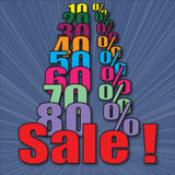 Sale with percents Royalty Free Stock Images