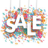 Sale Percents Background Royalty Free Stock Photography