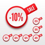 Sale percents. 3D sale percents. Vector illustration vector illustration