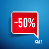 Sale percents label. Vector Royalty Free Stock Photo