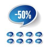 Sale percents label. Vector set Stock Photo