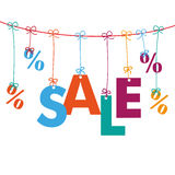 Sale Percents Line Royalty Free Stock Image