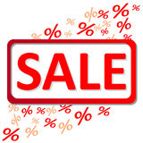 Sale percents Stock Photography
