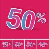 Sale percents. Vector. Stock Photo