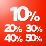 Sale percents. Vector. Royalty Free Stock Photo