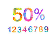 SALE Percents. Vector triangular numbers Royalty Free Stock Photo