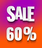 Sale 60% discount offer price label royalty free illustration