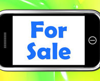 For Sale On Phone Means Purchasable Stock Photo