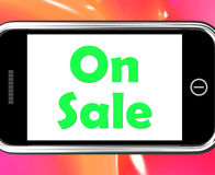 On Sale Phone Shows Promotional Savings Stock Photo